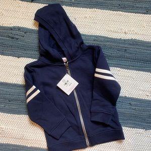 Hanna Andersson Hooded Zip Up Sweatshirt, 3T 90cm